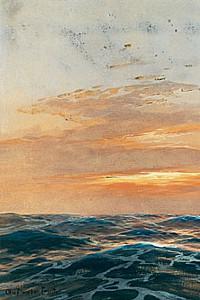 These3-3 Willy Stoewer - Vollschiff vor untergehender Sonne