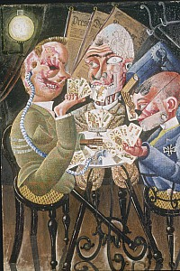 These1 Otto Dix - Die Skatspieler 1920