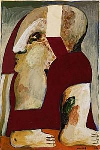 These3-2 Horst Antes - rotbekleidete Figurigur 1966