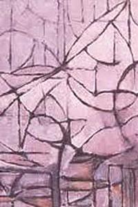 These1-5 Mondrian Bluehende Baeume 1912
