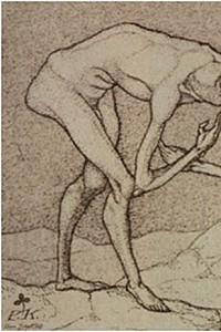 These1-1 Paul Klee - Zwei Maenner einander in hoeherer Stellung vermutend 1903