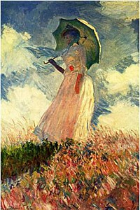 These2-4 Claude Monet - Studie Frau mit Sonnenschirm 1886