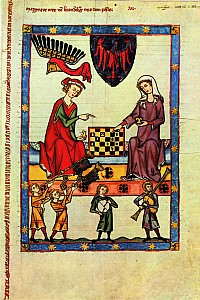 These1-3 Schachspiel Manessische Liederhandschrift 1320