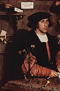 These1-4 Holbein Hans d. J Der Kaufmann von Gisze 1532